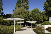 parasols at gulbenkian gardens