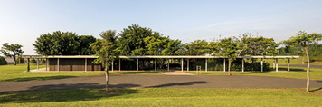 equestrian center clubhouse at fazenda boa vista