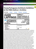 young portuguese architects exhibition at the riba gallery - archdoc